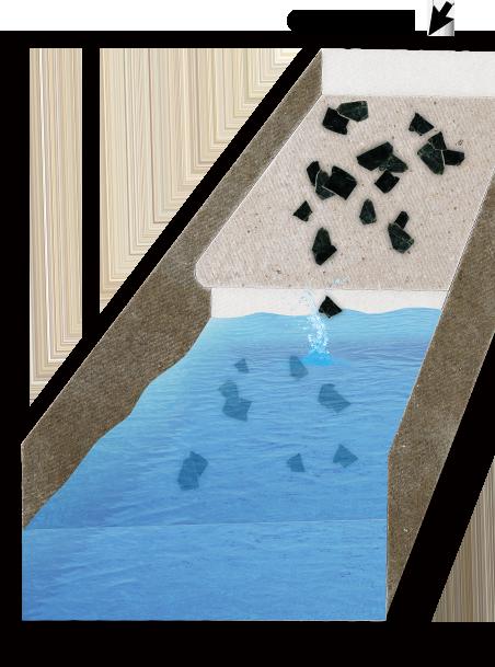 マイカ原鉱の搬送イメージ
