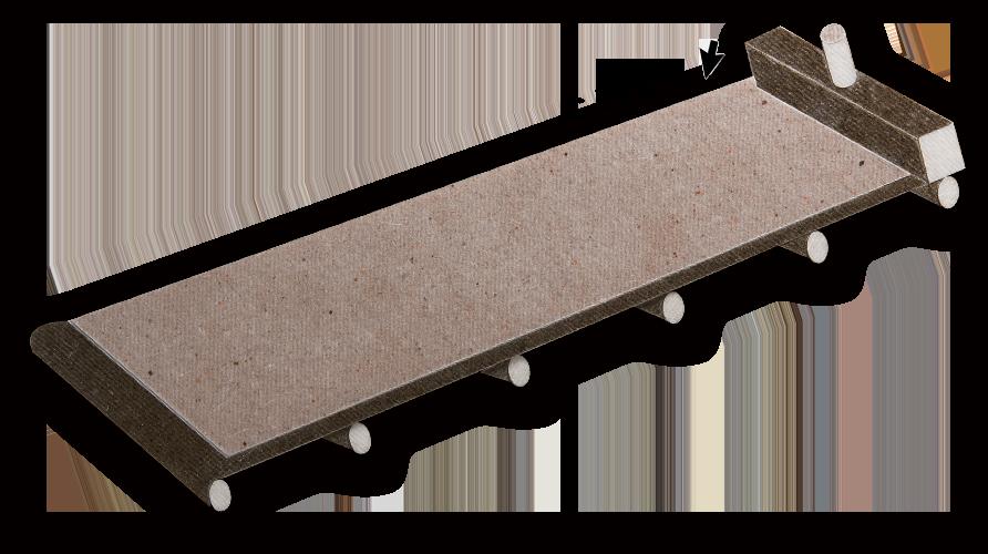 マイカ加工用の抄造機イメージ